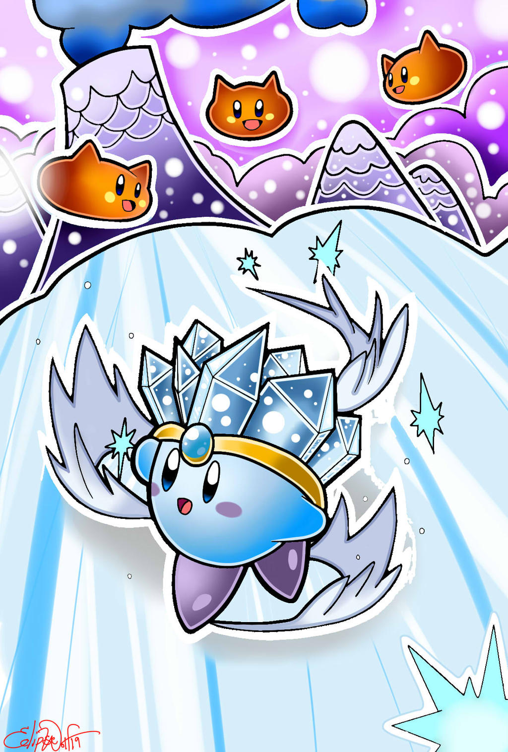 Ice Kirby by NeonCelestia20