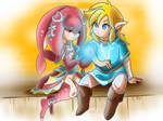 Mipha and Link