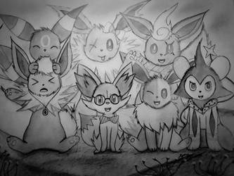 Poke-Family Photo! Part 1 by Xyvier