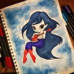 Inktober 2018 - Day 4 Marceline the Vampire Queen