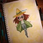 Inktober 2018 - Day 10 Betty Grof aka Wizard Betty
