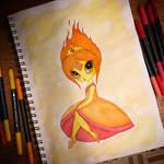 Inktober 2018 - Day 12 Flame Princess