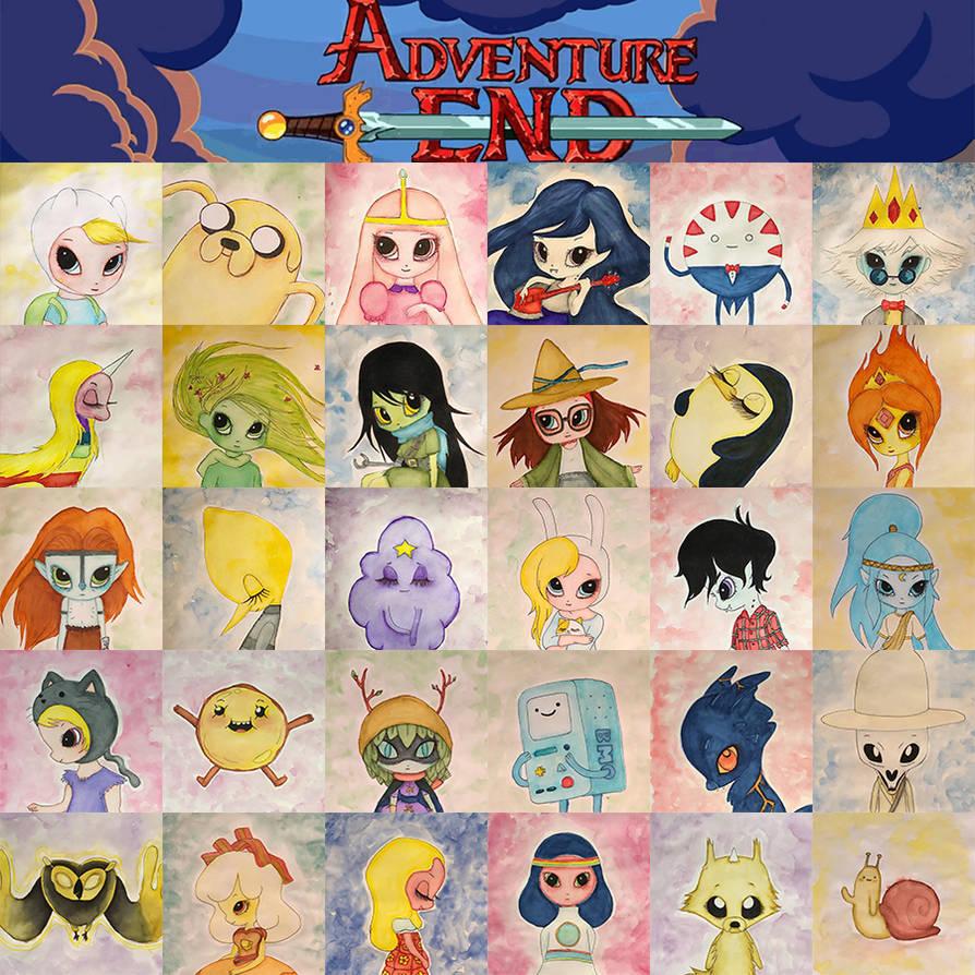 Inktober 2018 - Day 31 Adventure Time farewell