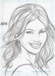 Jessica Biel Sketch Card
