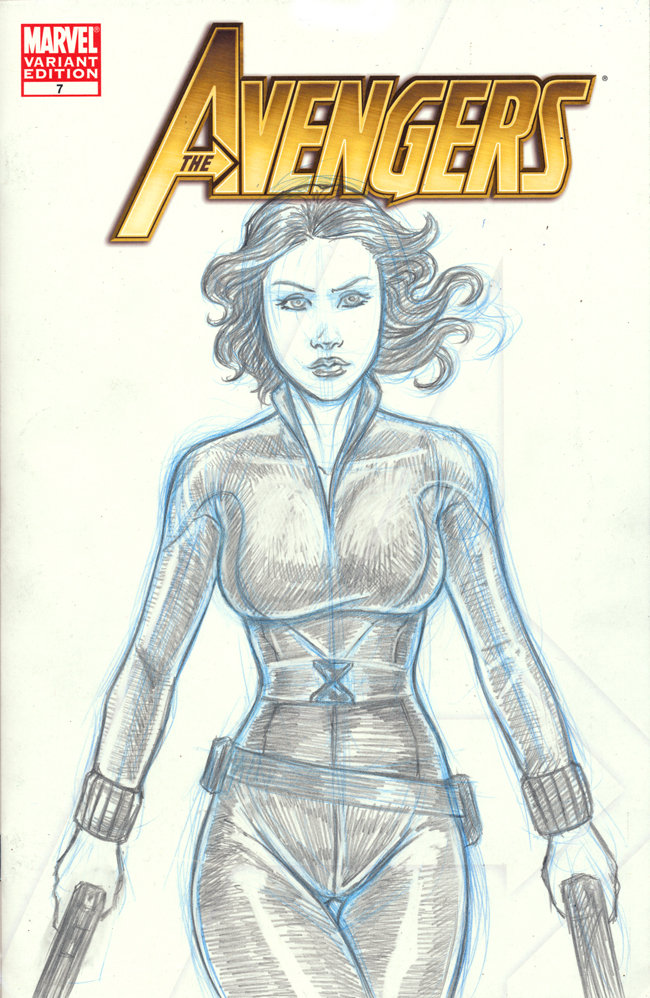 Black Widow Avengers Sketch Cover By Nortedesigns On DeviantArt