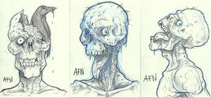 Sketch Card Set  ZOMBIES by Nortedesigns