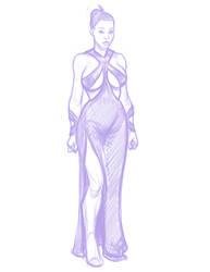 Kim K Sketch by Nortedesigns