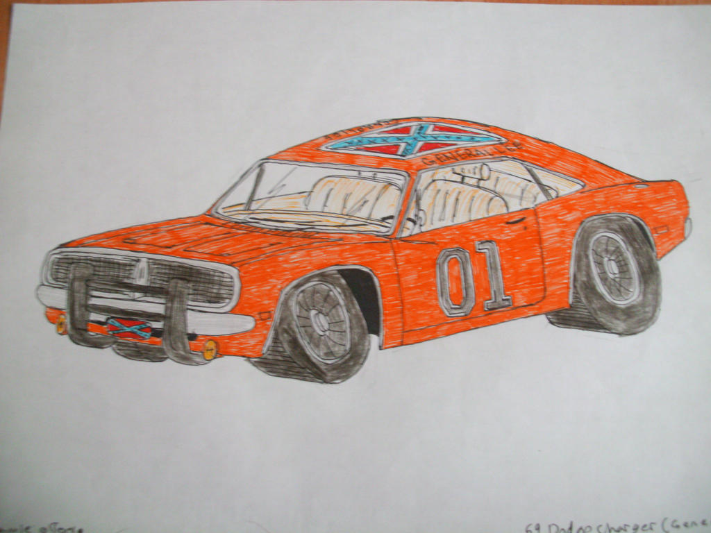 dodge charger the general lee by jamiedrawscars on deviantart. Black Bedroom Furniture Sets. Home Design Ideas