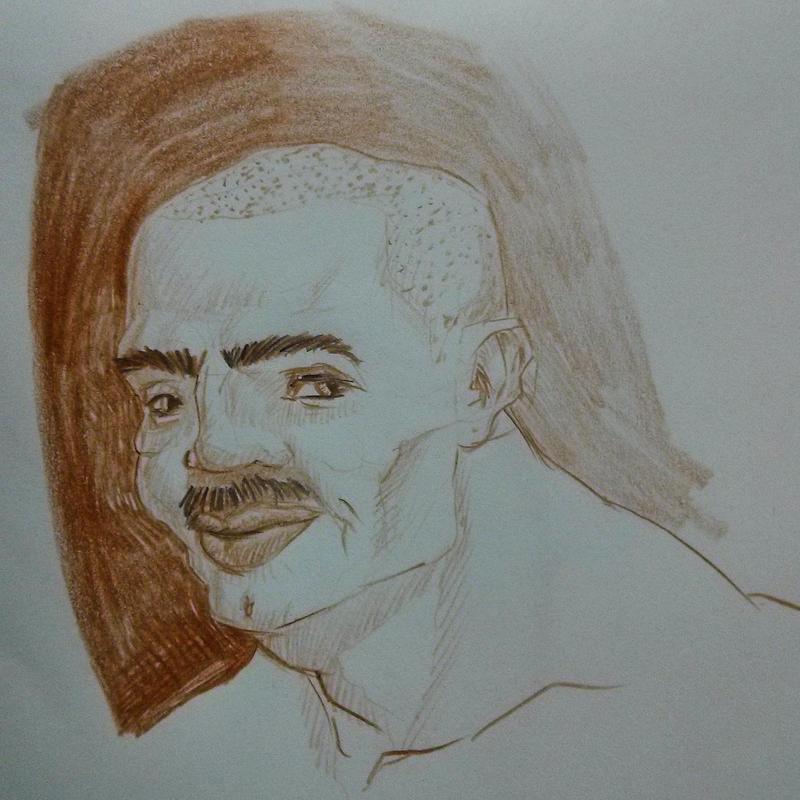 sketch of man by AJDragonTamer