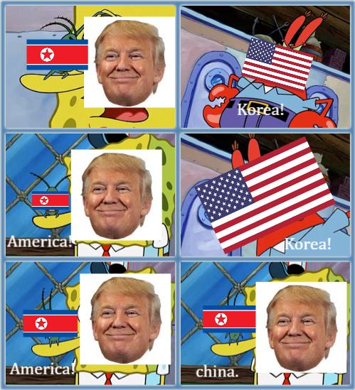 KOREA! AMERICA! KOREA! china. by LtEvan
