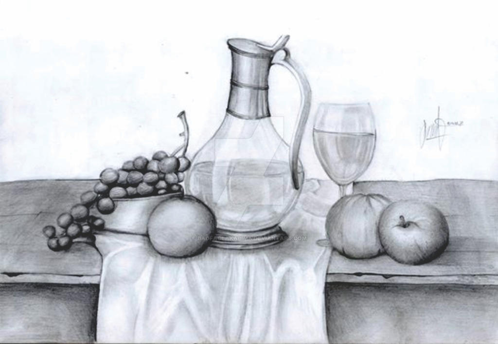 Still life drawing by badfaceakabima