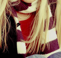striped scarf by FL1GHT