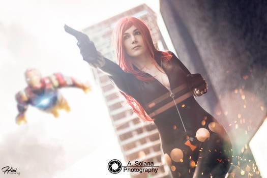 Black Widow. [12] We'll avenge the Earth !