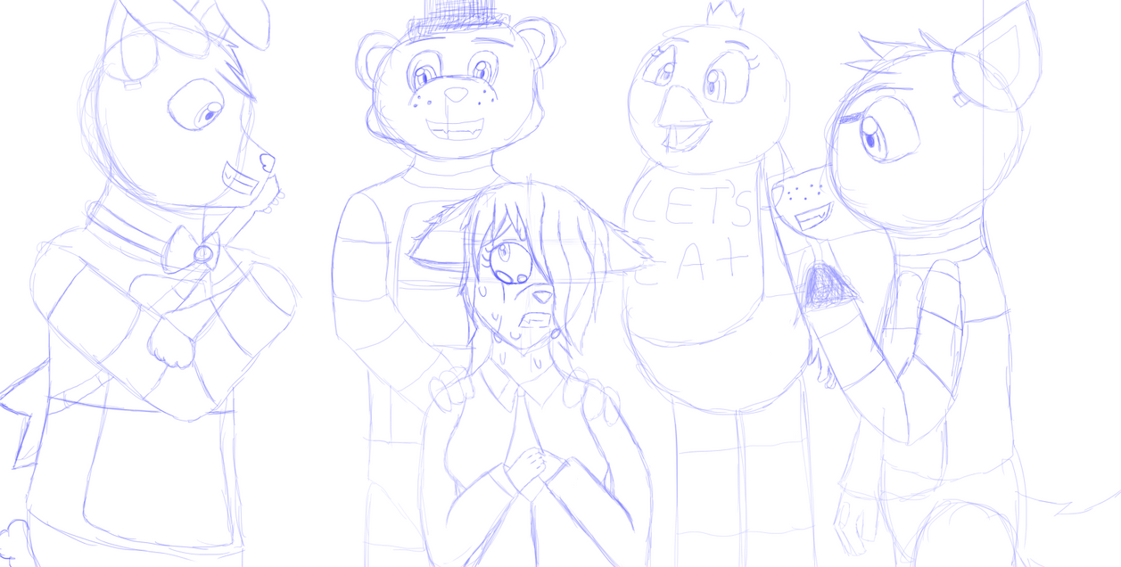 Snowball Works At Freddy Fazbear's Pizza Sketch by sora204