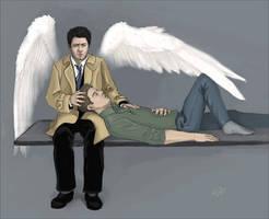 Dean x Castiel 2 by Umino-aka-Morskaya