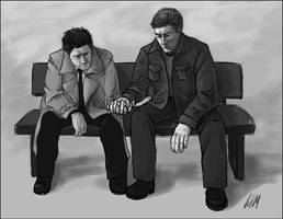 Dean x Castiel 3 by Umino-aka-Morskaya