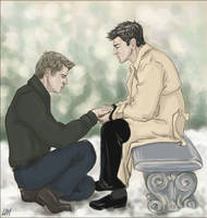 Dean x Castiel: Give Me a Sign by Umino-aka-Morskaya