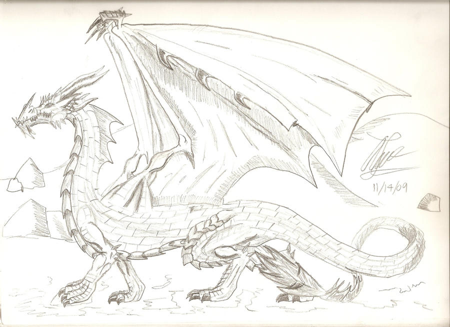 My first good dragon drawing by leonopteryxdragon on for How to draw good sketches