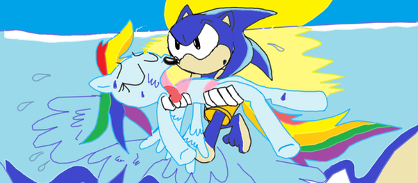Life Saver Sonic by comedyestudios