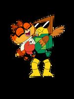 Dr. fox x Hawkodile smooch