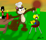 Late summer cookout