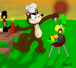 Late summer cookout by comedyestudios