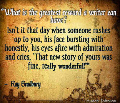 Writing Reward- Bradbury