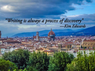 Writing is discovery -Edwards