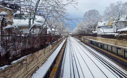 Brooklyn trainscape by adenisej25
