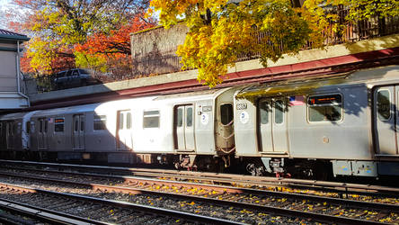 Train station in the fall by adenisej25