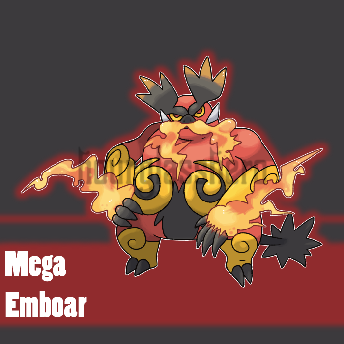 Mega Emboar (Contest Entry) by HourglassHero on DeviantArt