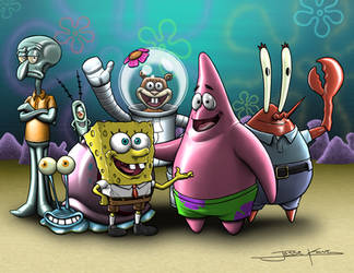 SpongeBob N' Friends by jessekwe