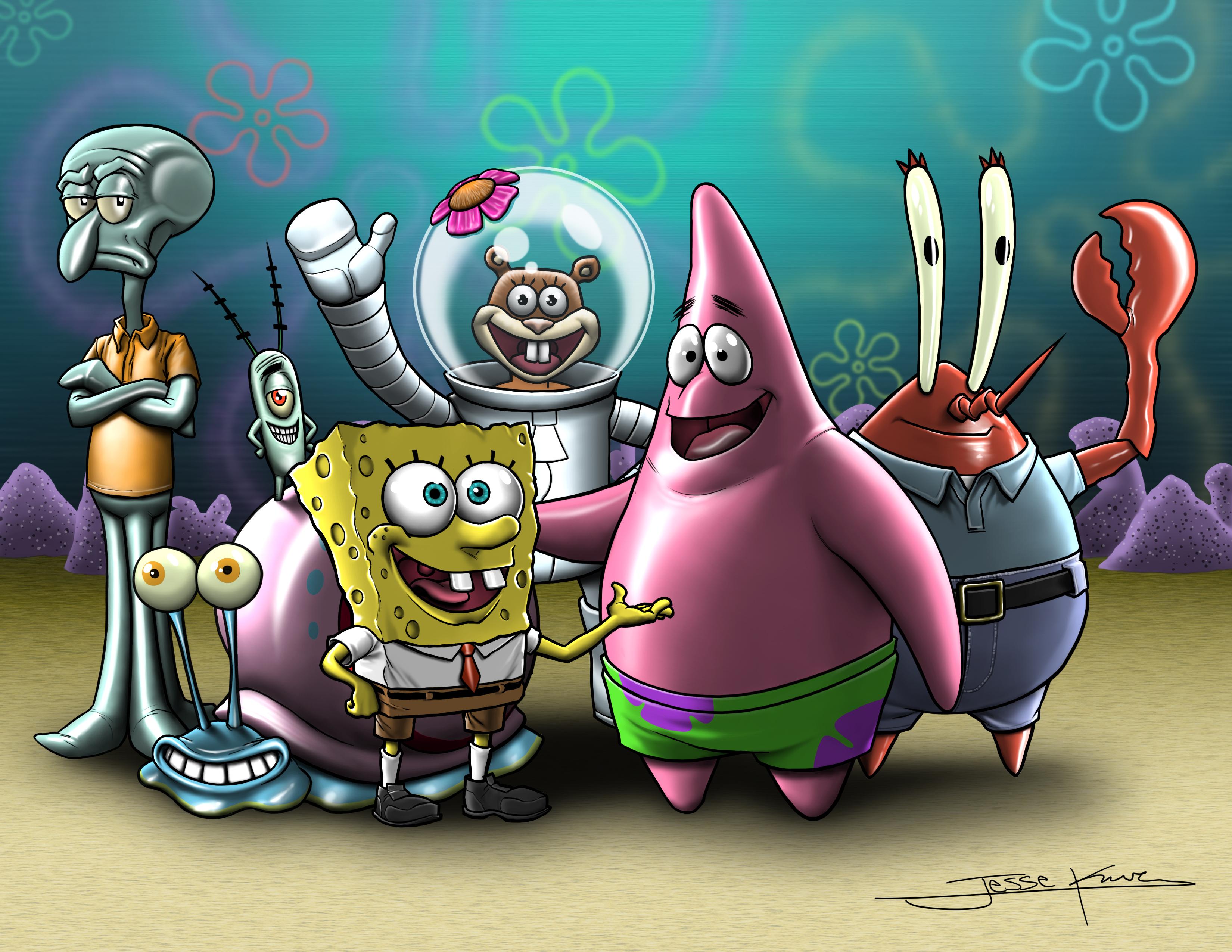 spongebob and friends meet brother bear part 1