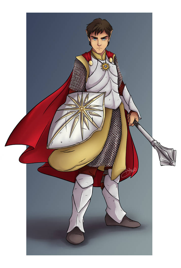 Ivellios - Half Elf Cleric of Pelor - Commission by riku