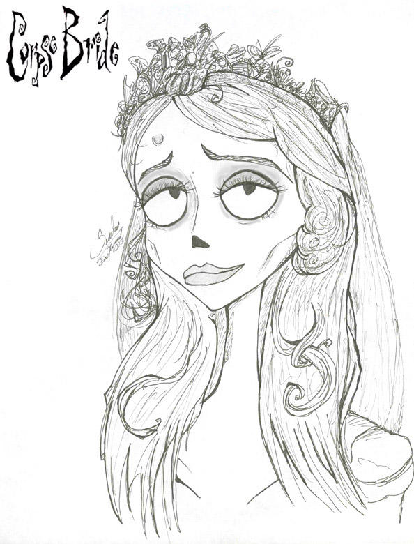 This is a graphic of Monster corpse bride coloring pages