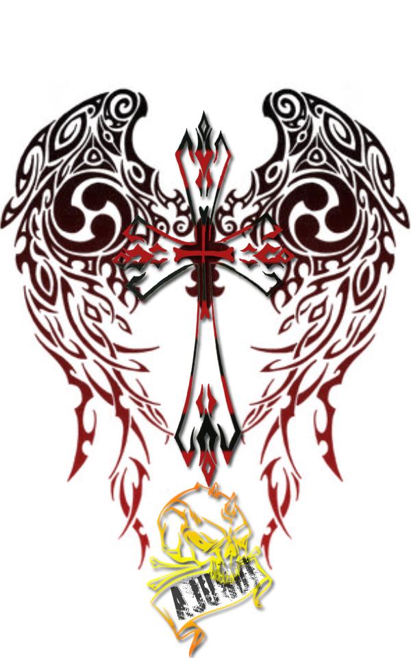 tribal cross tattoo by ajurdi on deviantart. Black Bedroom Furniture Sets. Home Design Ideas
