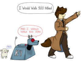 I Would Walk 500 Miles... by VoidFox-Comics