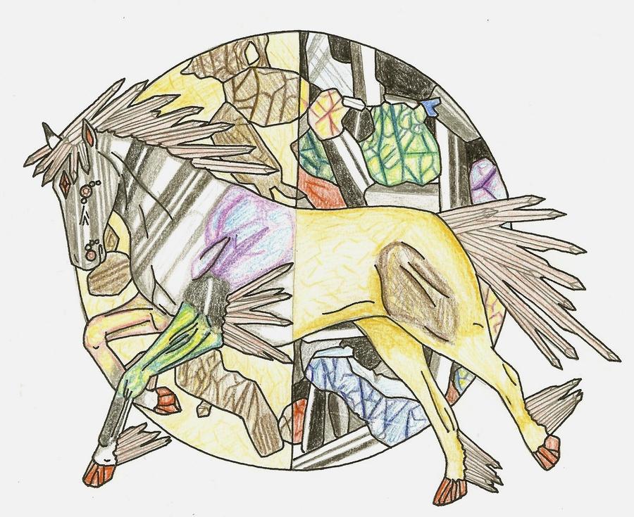 Birefringence Horse by elsarose