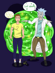 Rick An Morty by Yukinara100