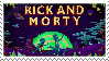 Rick and Morty stamp by Loana-Lalonde