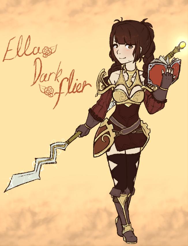 Fatesona: Ella, Dark Falicorn rider by EntomaVI on DeviantArt