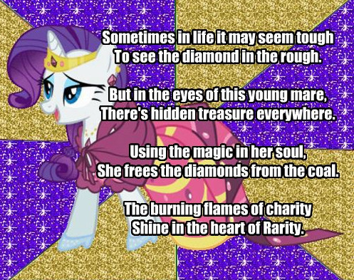 My Little Poetry -Rarity- by snakeman1992