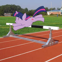 Twilight doing hurdles by snakeman1992