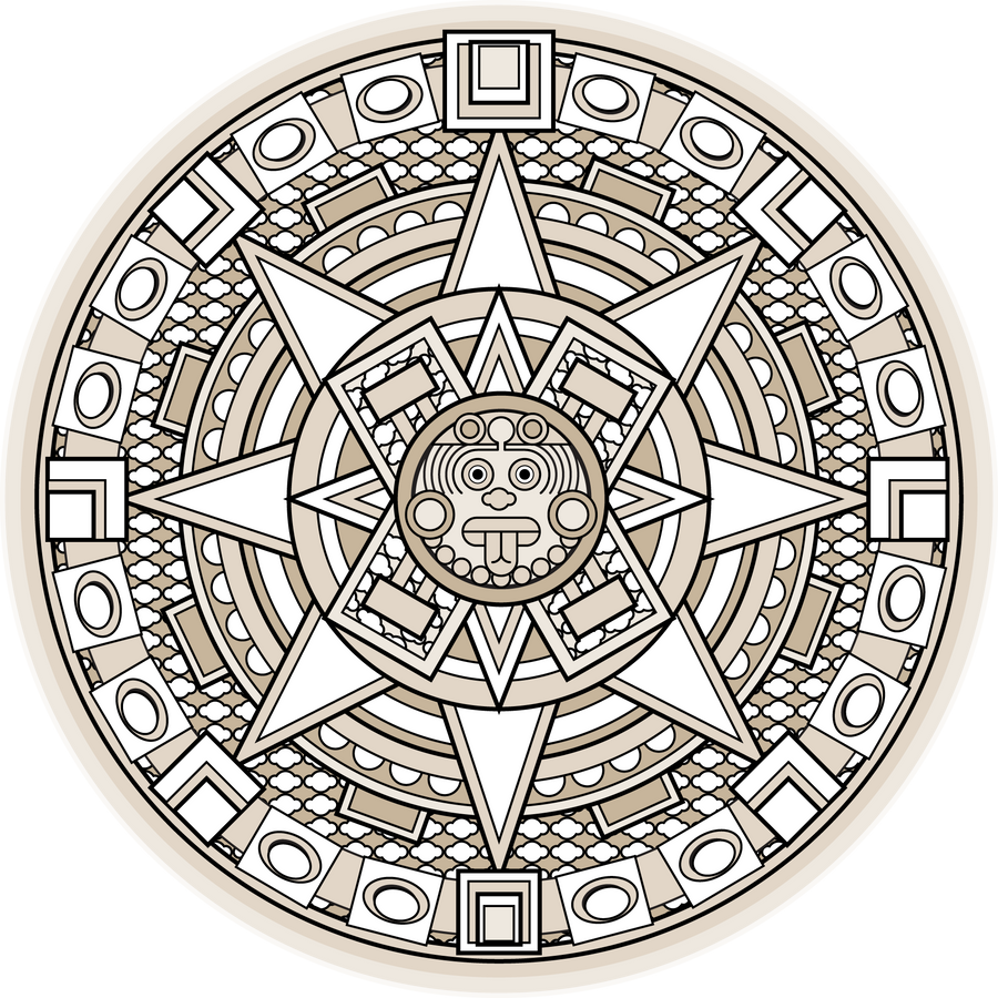 mayan symbols coloring pages - photo#15