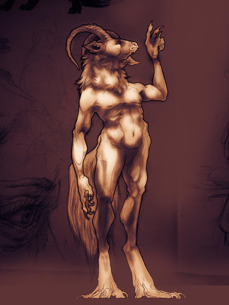Goat Sketch by niteclaw