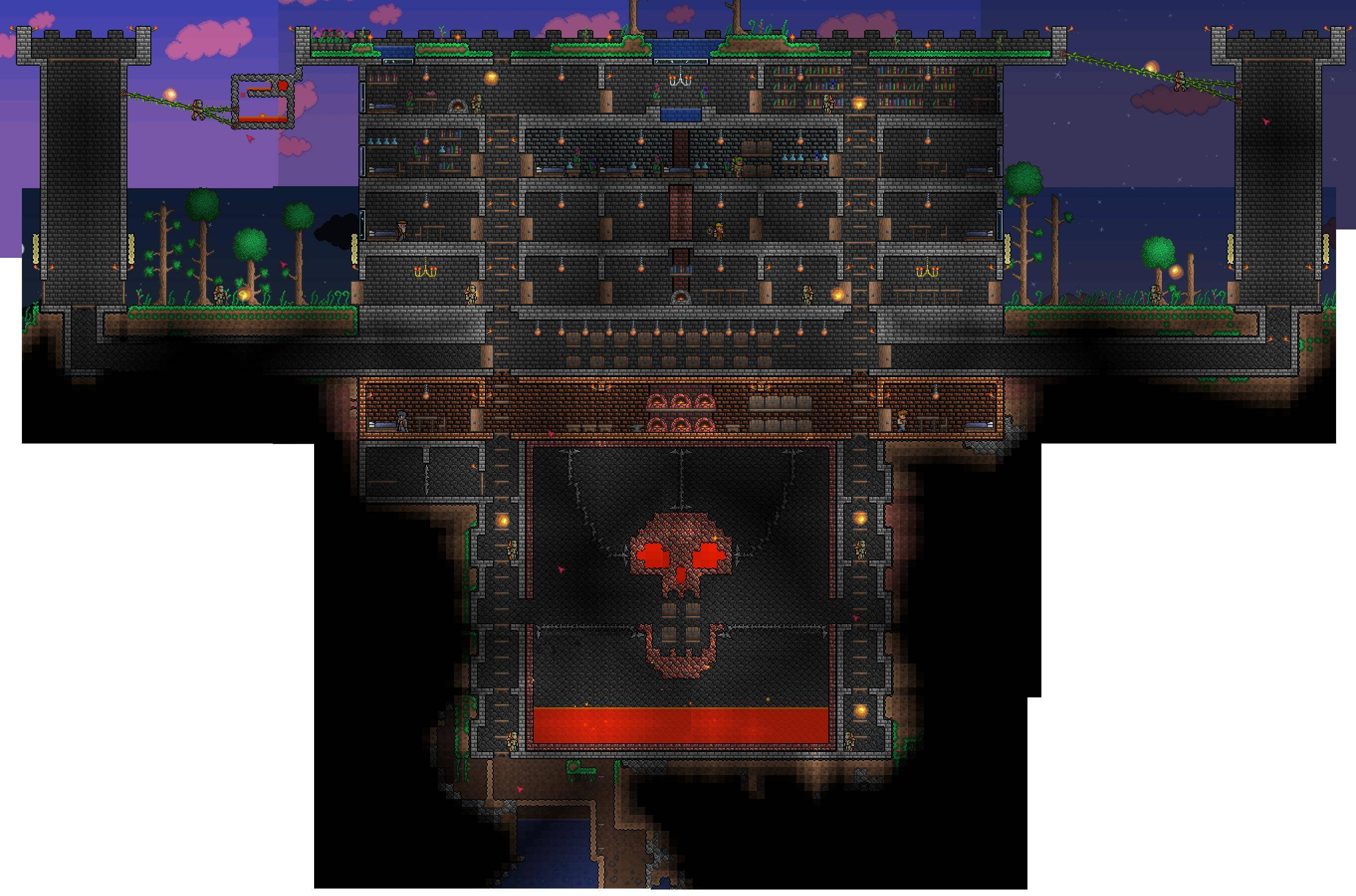 My terraria house by acherus29a on deviantart for Terraria house designs