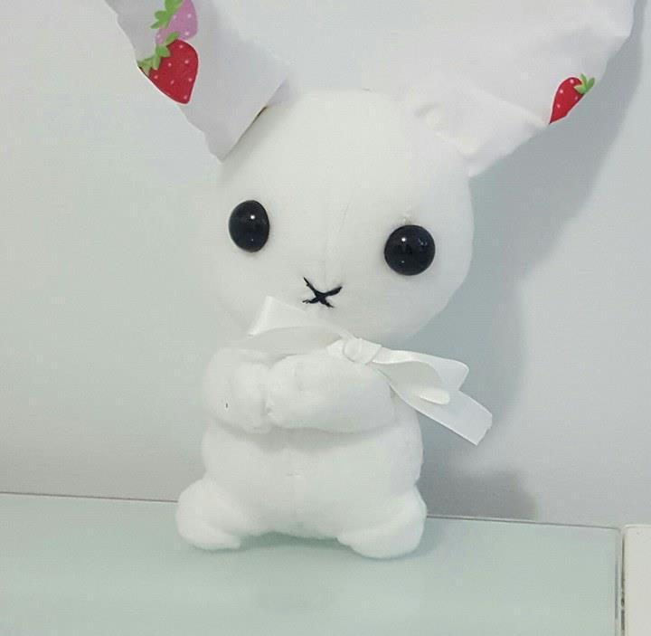 Handmade bunny plushie by Sugarpinklickalips