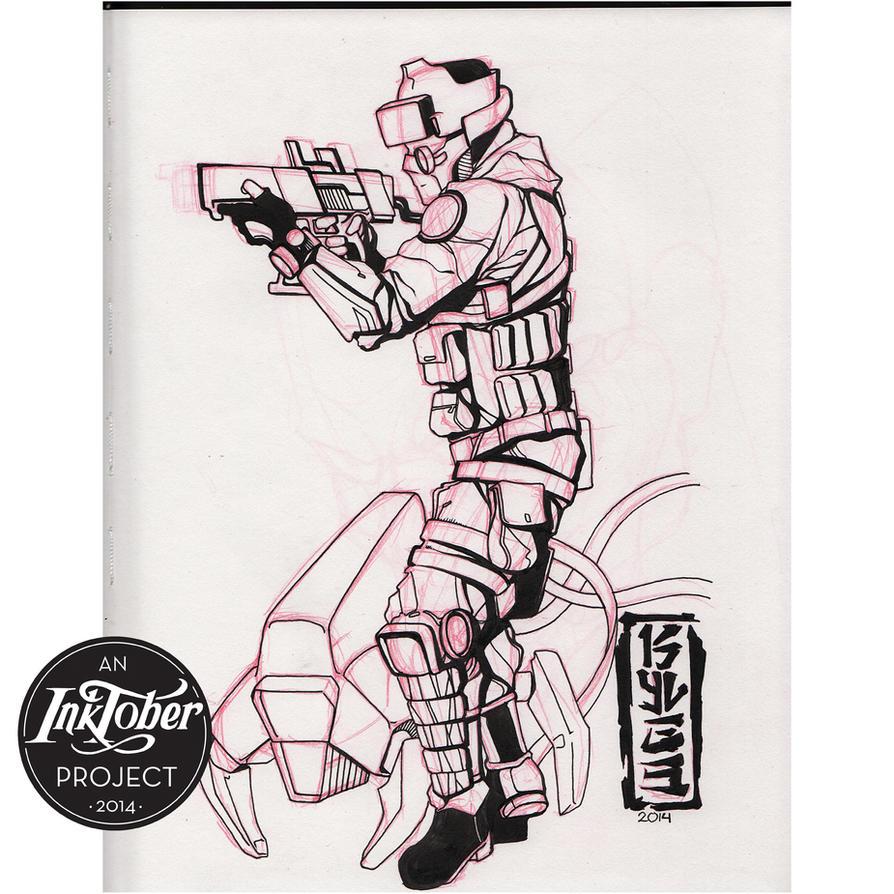 #Inktober Illustration Day 4, October 4, 2014 by SmithByDesign