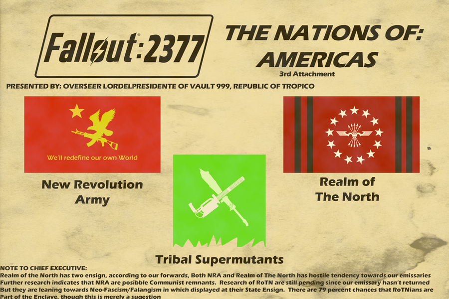 Flags of Fallout 2377 Americas Nations pt.3 by lordelpresidente ...