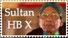 Sultan Hamengkubuwono X Stamp by lordelpresidente